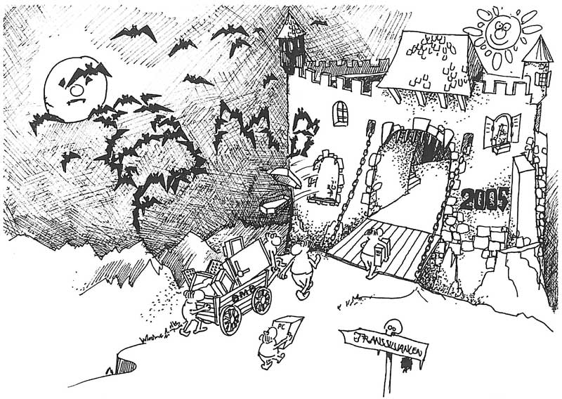 Comic BMB Umzug nach Transsilvanien